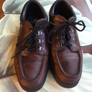 TIMBERLAND BROWN LEATHER LACE UPS MENS SIZE 11M